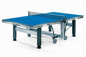 Cornilleau Competition 740 Indoor Table Tennis Table - Blue Top
