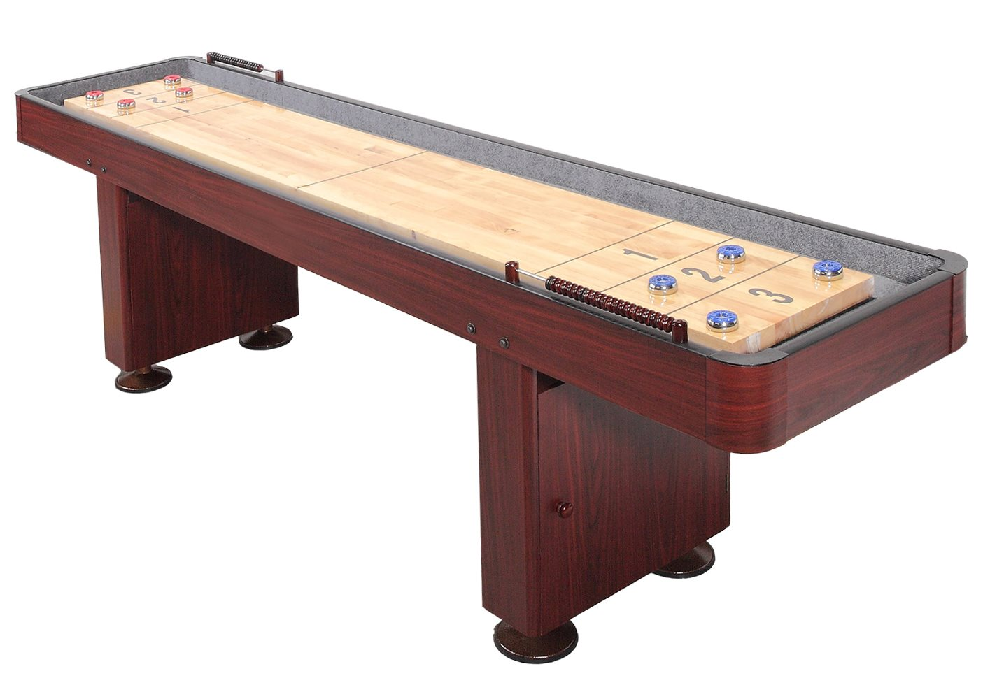 Carmelli Challenger 9 Shuffleboard Table - Dark Cherry Finish