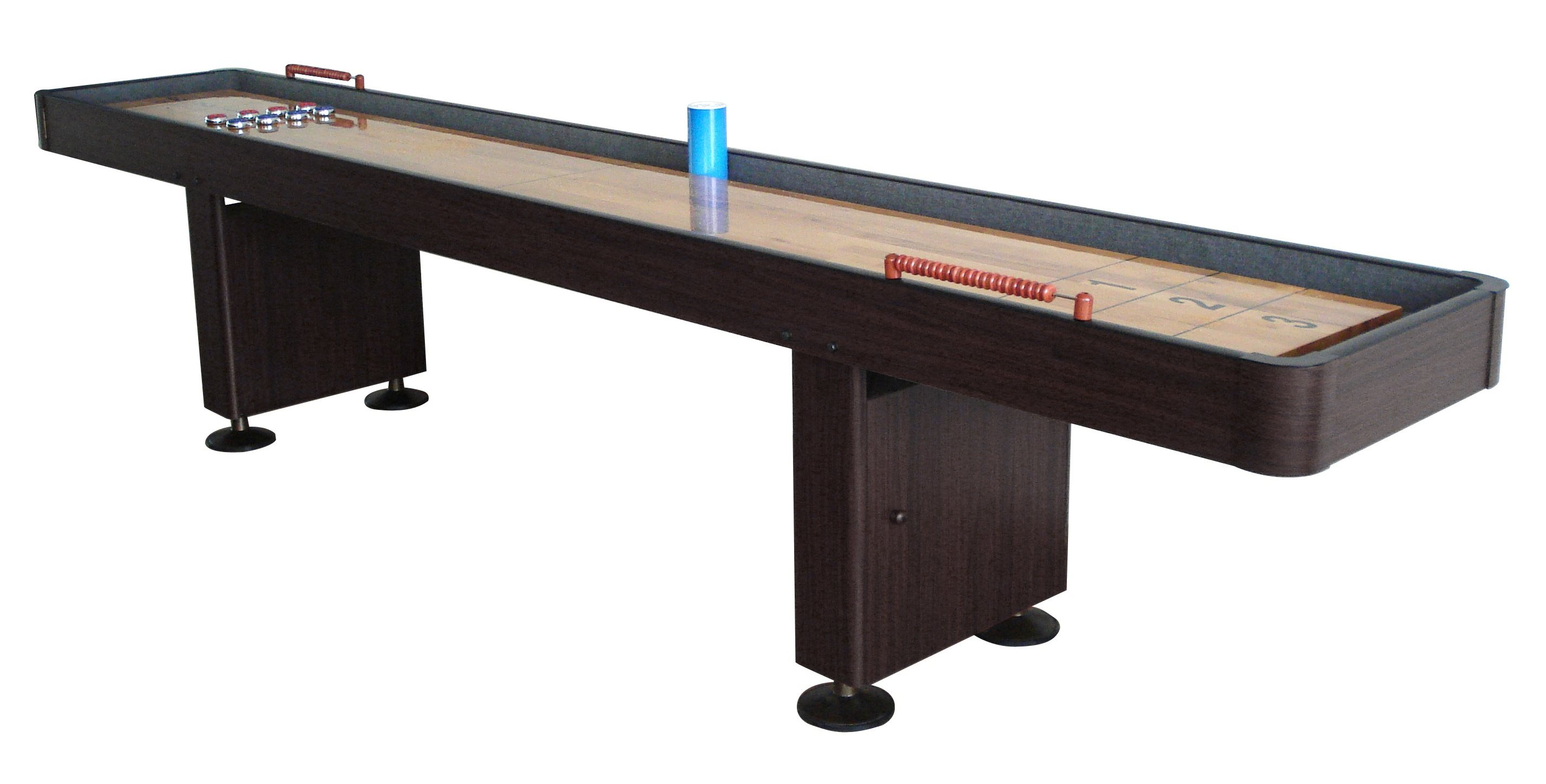 Carmelli Challenger 12 Shuffleboard Table - Walnut Finish