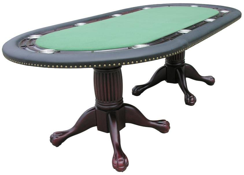 "Berner 96"" Oval Holdem Poker Table w/ Optional Dining Top in Mahogany"