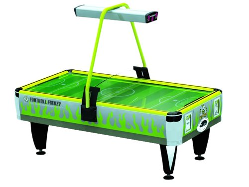 Barron Games GREEN FOOTBALL FRENZY 2-Player Redemption Air Hockey Table