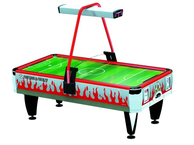 Barron Games ORANGE FOOTBALL FRENZY 2-Player Redemption Air Hockey Table