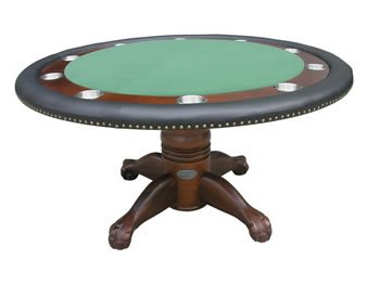 Berner Deluxe Poker Table - Dark Walnut
