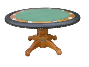 Berner Deluxe Poker Table - Oak