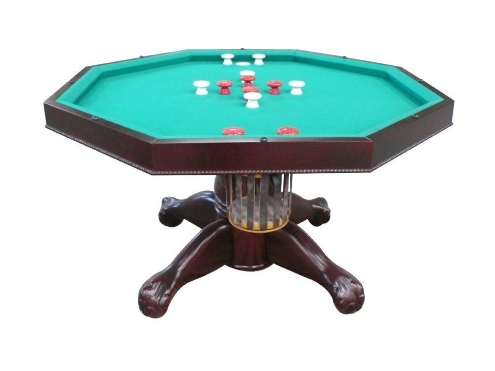 "Berner 3N1 Slate Octagon Combination Game Table 48""- Mahogany"