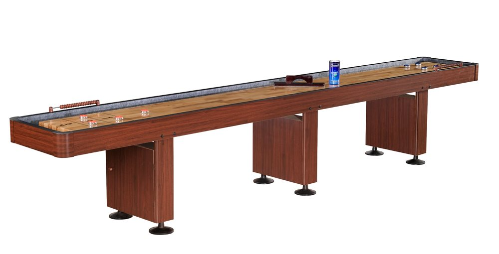 Carmelli Challenger 14 foot Shuffleboard Table - Dark Cherry Finish