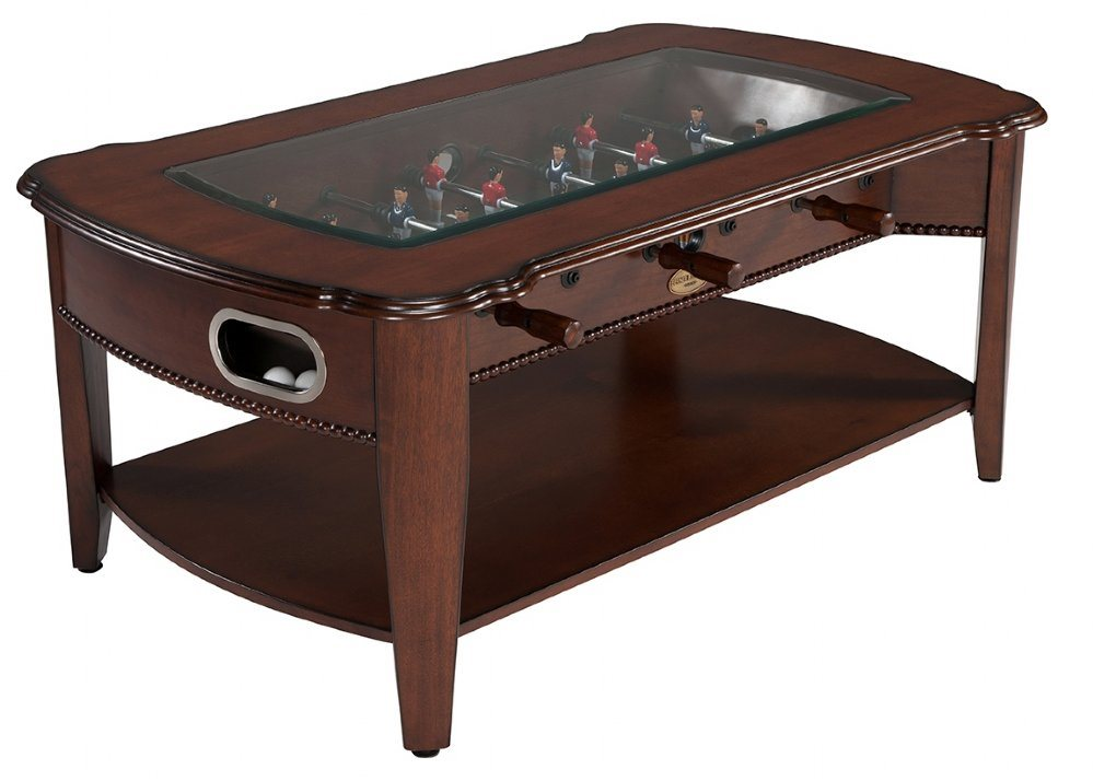 Berner 2N1 Foosball and Coffee Table - Walnut