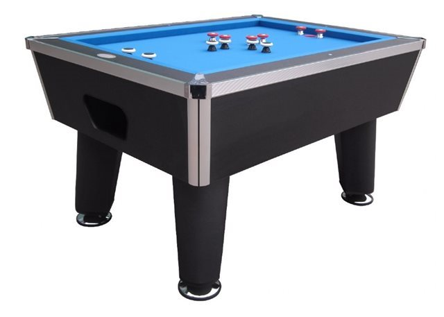 """The Brickell"" Pro Slate Bumper Pool Table - Black Finish"