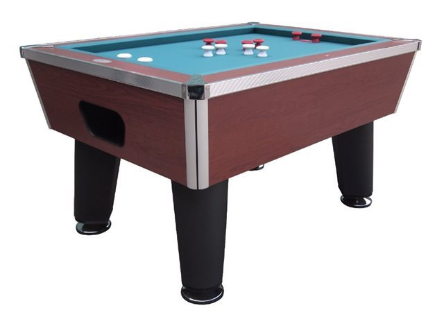 """The Brickell"" Pro Slate Bumper Pool Table - Cherry Finish"