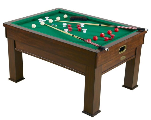 3N1 Rectangular Bumper Pool, Card and Dining Table - Walnut Finish