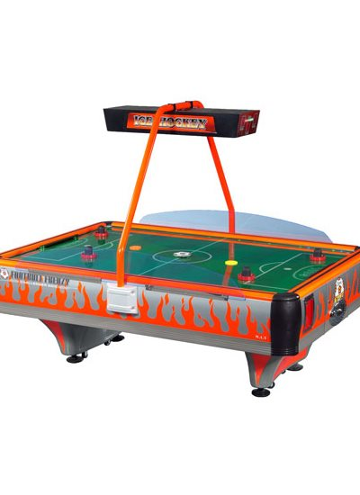 Barron Games ORANGE FOOTBALL FRENZY Redemption Air Hockey Table