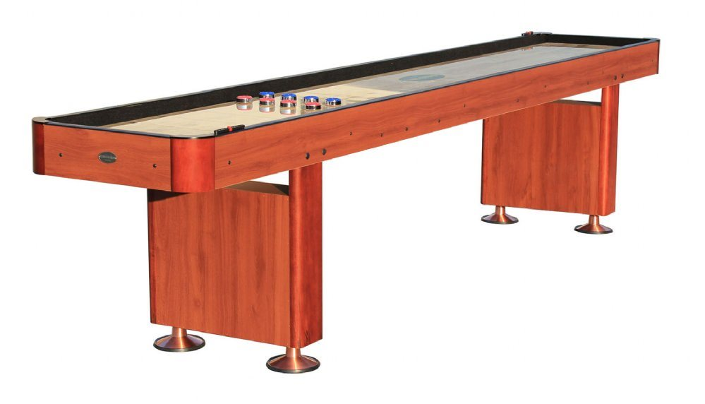 Berner Billiards 12 Shuffleboard Table - Cherry Finish