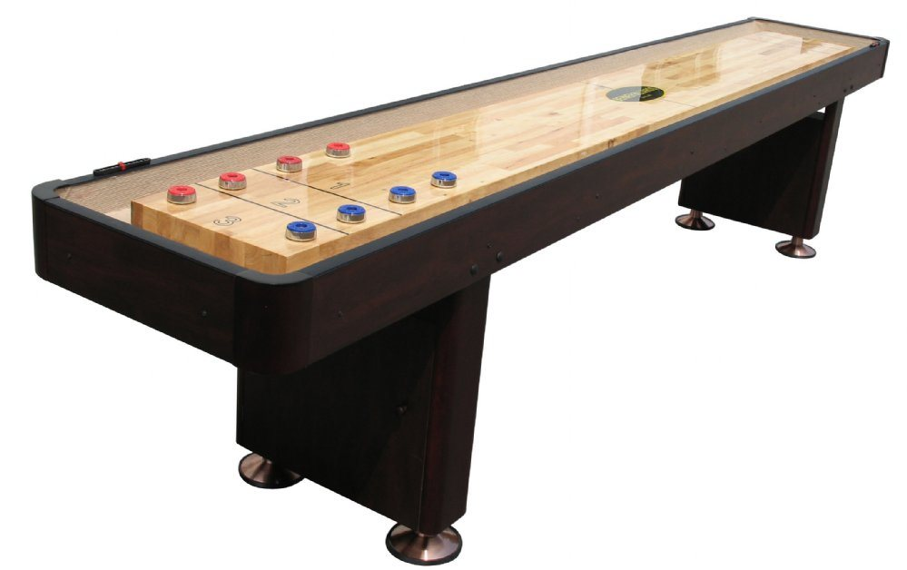 Berner Billiards 12 Shuffleboard Table - Espresso Finish