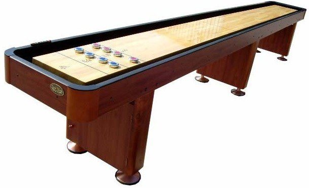 Berner Billiards 14 Shuffleboard Table - Cherry Finish