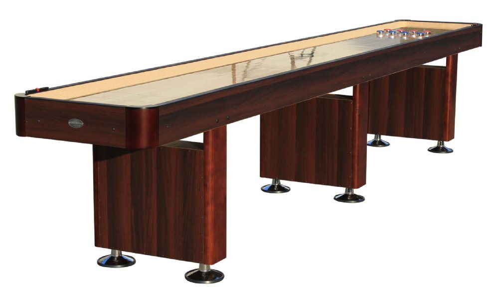 Berner Billiards 14 Shuffleboard Table - Espresso Finish