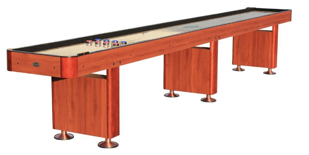 Berner Billiards 16 Shuffleboard Table - Cherry Finish