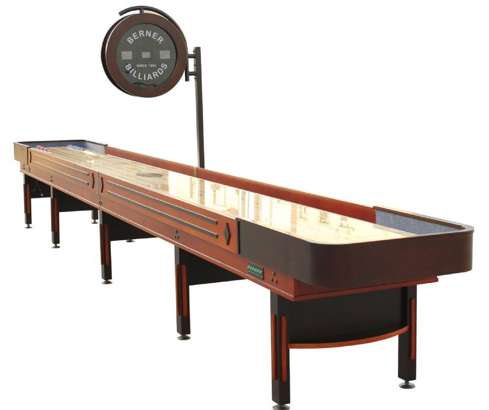 Berner Billiards THE PRO 12 Shuffleboard Table - Cognac Finish