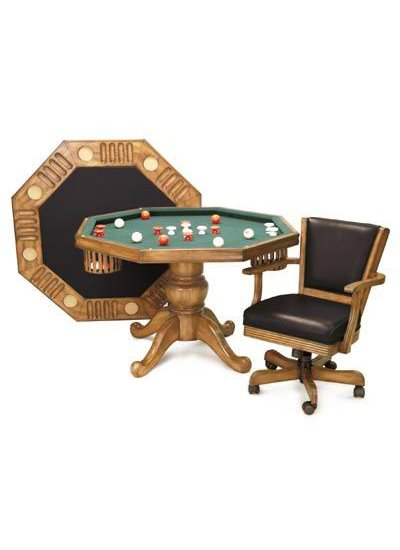 Imperial 3N1 BUMPER POOL/POKER TABLE - Oak