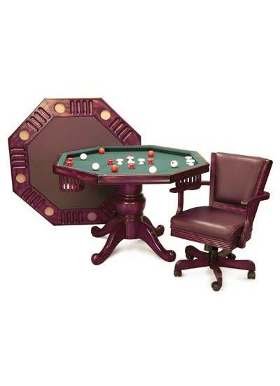 Imperial 3N1 BUMPER POOL/POKER TABLE - Mahogany
