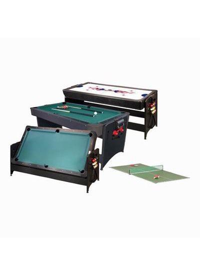 Fat Cat POCKEY 7et#8217; 3-N-1 Game Table (Pool Table and Air Hockey Table) - Oak