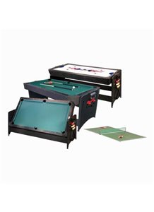 Fat Cat POCKEY 3-N-1 Game Table (Pool Table and Air Hockey Table) - Oak