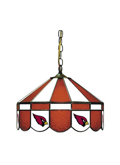 Arizona Cardinals Stained Glass Pub Light