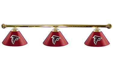 Atlanta Falcons Glass 3 Shade Lamp