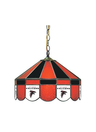 Atlanta Falcons Stained Glass Pub Light