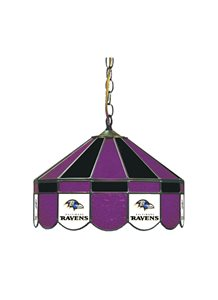 Baltimore Ravens Stained Glass Pub Light