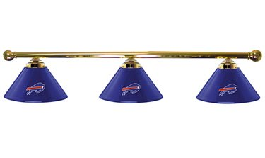 Buffalo Bills Glass 3 Shade Billiard Lamp
