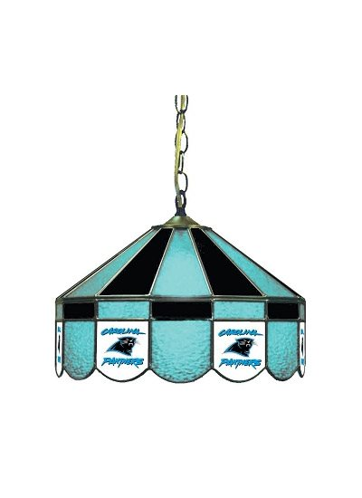 Carolina Panthers Stained Glass Pub Light
