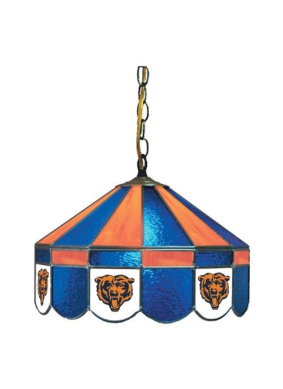 Chicago Bears Stained Glass Pub Light