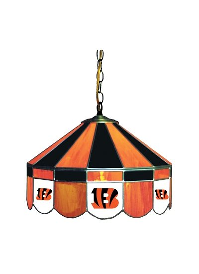 Cincinnati Bengals Stained Glass Pub Light