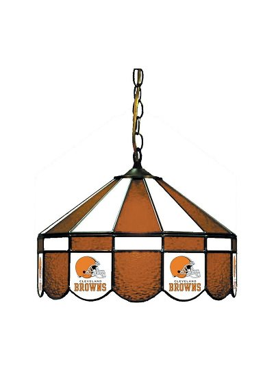 Cleveland Browns Stained Glass Pub Light