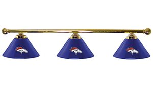 Denver Broncos Glass 3 Shade Lamp