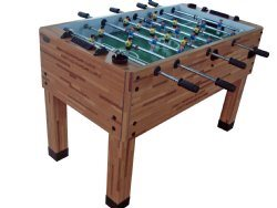 Berner Premium Foosball Table - Butcher Block - 1-man goalie