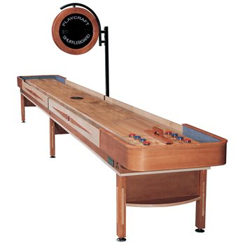Playcraft TELLURIDE Shuffleboard Table - 12 foot - Honey Finish