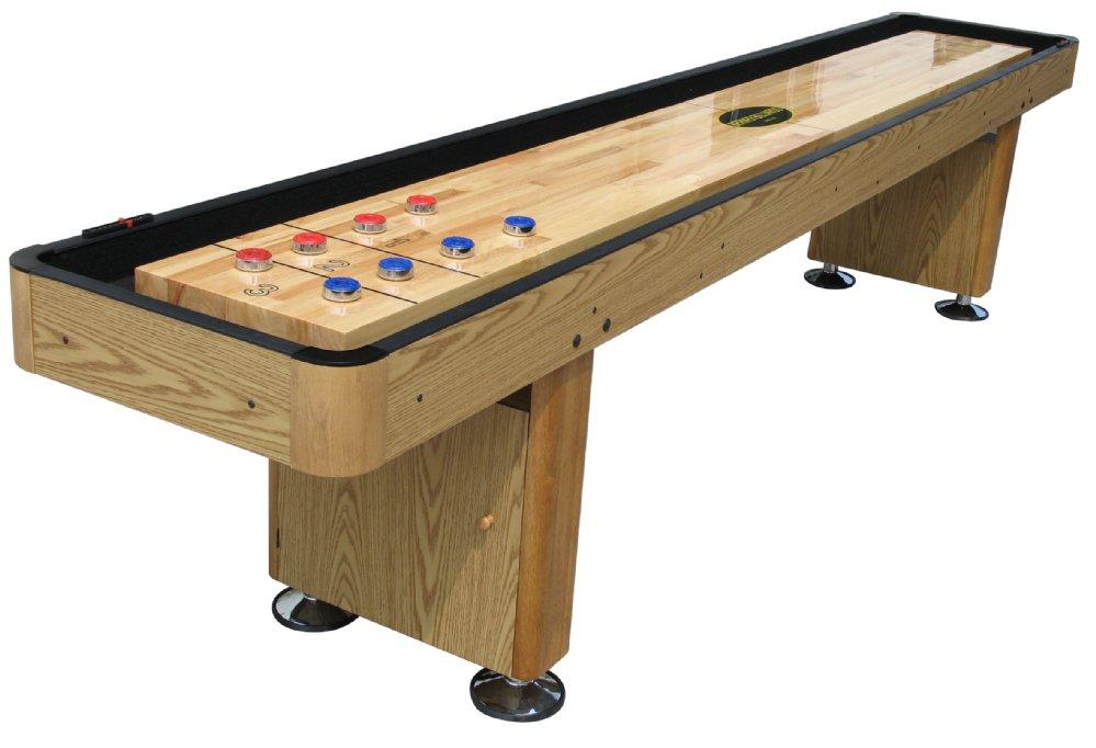 Berner Billiards 12 Shuffleboard Table   Oak Finish