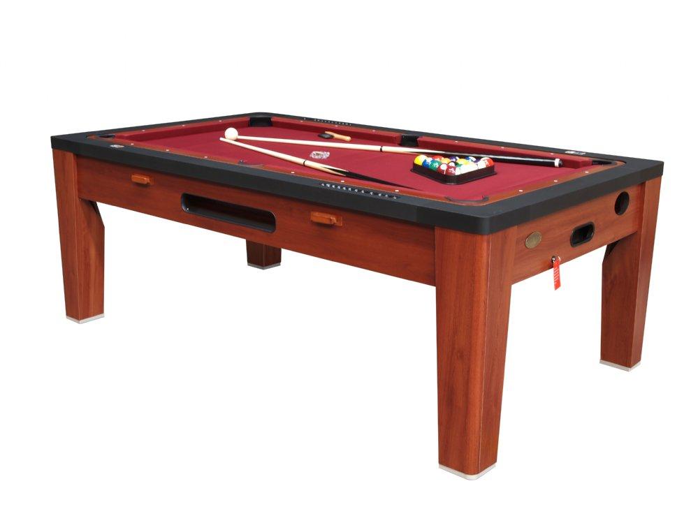 Berner Billiards Berner 6 N 1 Combination Game Table Cherry 6n1